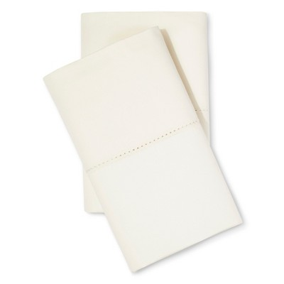 Supima Classic Hemstitch Pillowcase Set (Standard)Ivory 700 Thread Count - Fieldcrest™