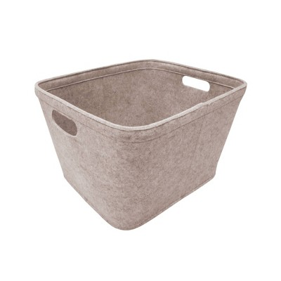 "10.5""x14"" Medium Felt Basket with Stitching Oatmeal - Project 62™"