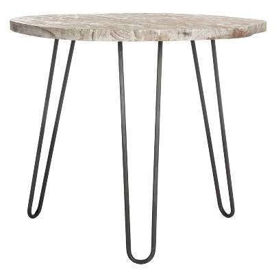Mindy Wood Top Dining Table - Safavieh