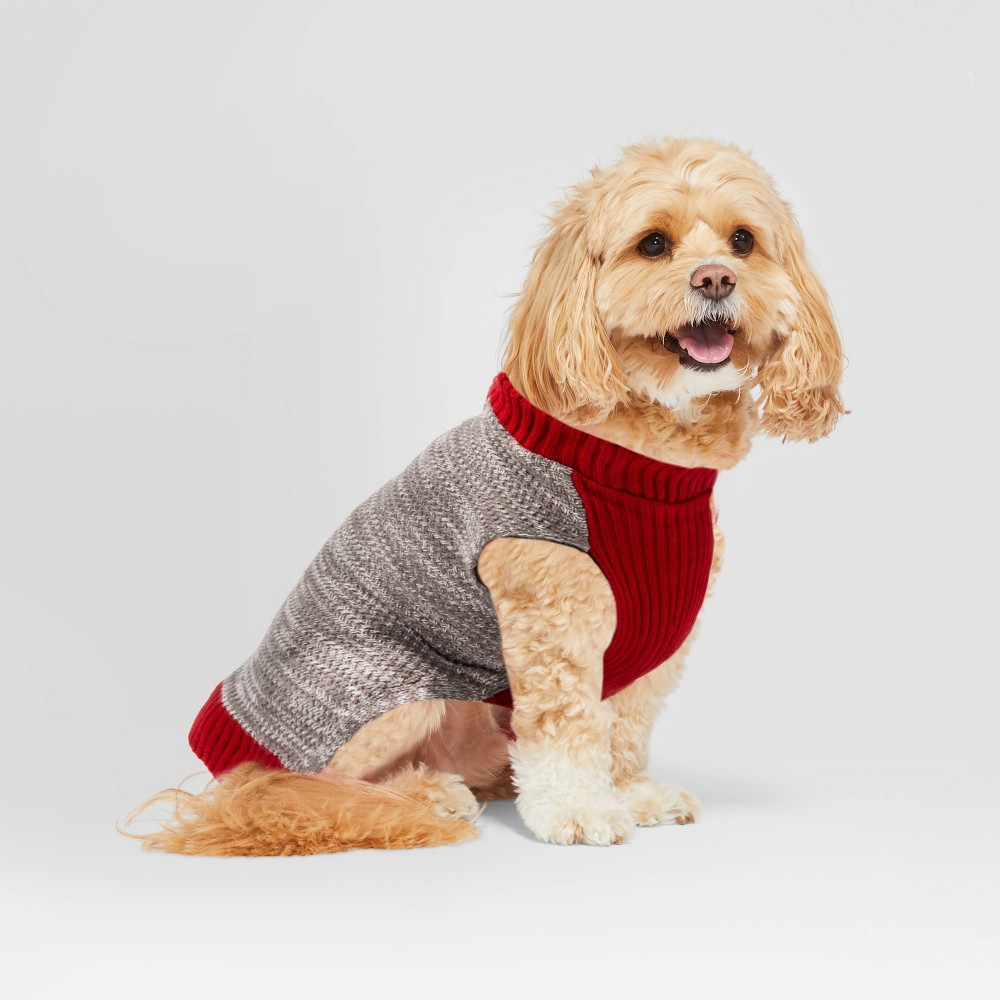 Image of Pet Sweater Heathered Gray - XS - Hearth & Hand with Magnolia