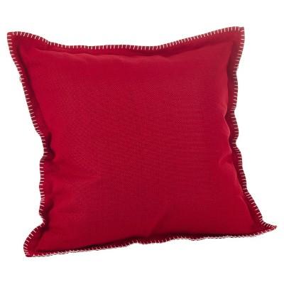 """20""""x20"""" Whip Stitched Flange Design Throw Pillow - Saro Lifestyle"""