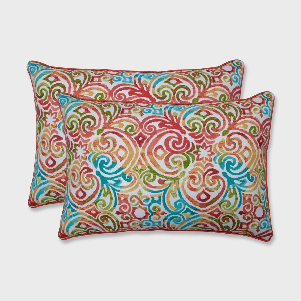 Best Price 2pk Corinthian Dapple Oversized Rectangular Outdoor Throw Pillow Blue Pillow Perfect