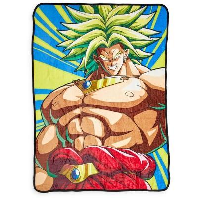 Just Funky Dragon Ball Z Broly 45 x 60 Inch Fleece Throw Blanket