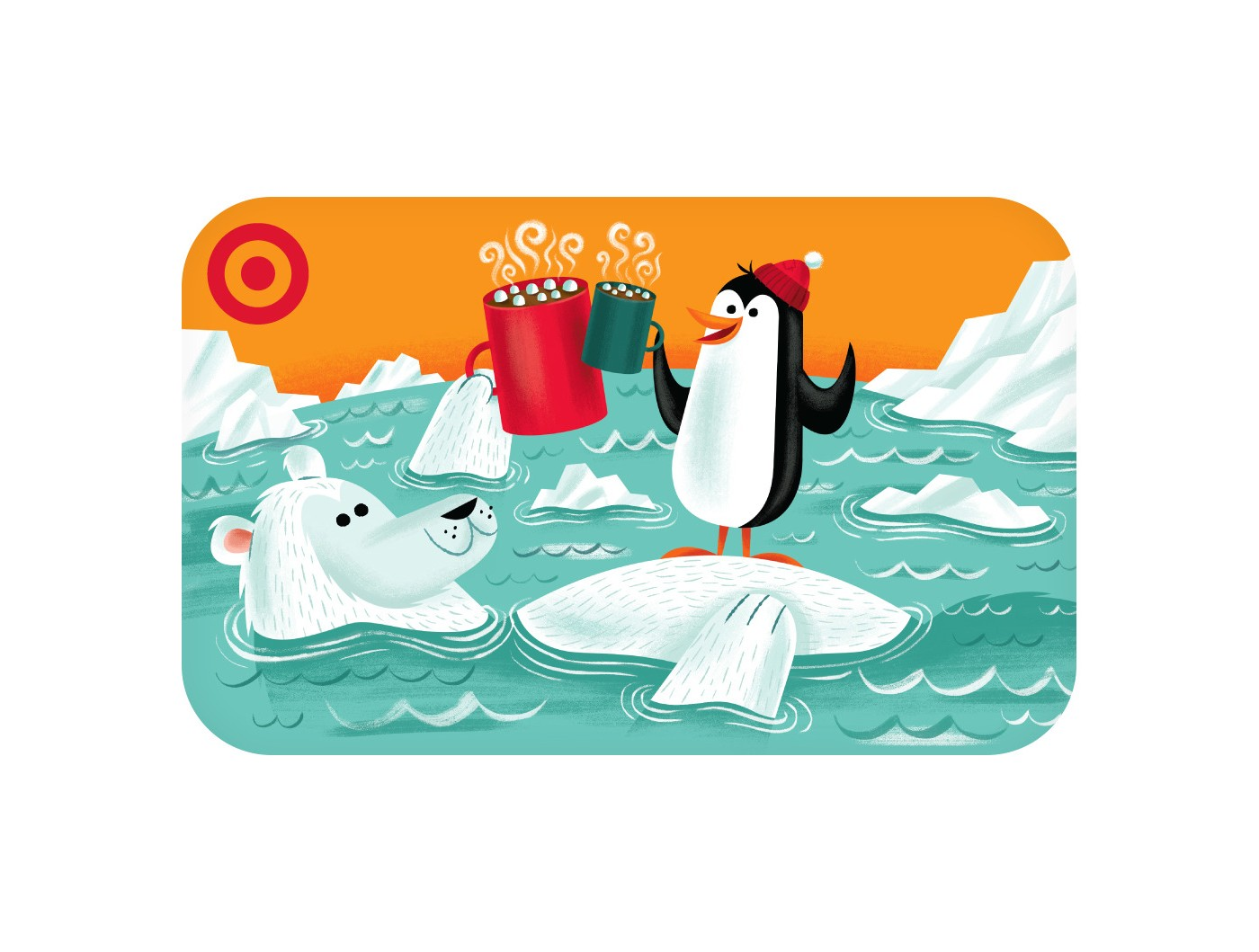 Penguin with Bear GiftCard - image 1 of 1