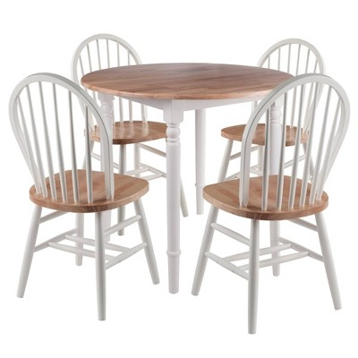 5pc Sorella Drop Leaf Dining Set With, Windsor Round Table
