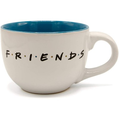 Silver Buffalo Friends Doodle Logo 24oz Ceramic Soup Mug