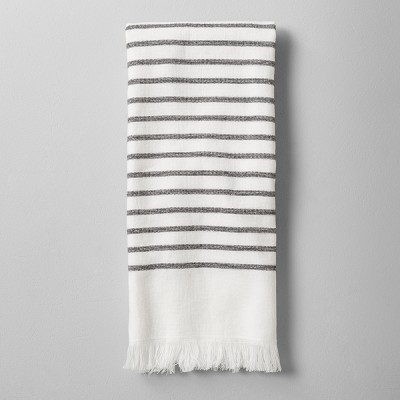 Hand Towel Striped Gray/White - Hearth & Hand™ with Magnolia