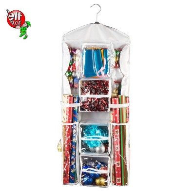 Double Sided Hanging Gift Wrap and Bag Organizer Stores it All - Elf Stor