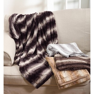 Animal Print Design Soft Plush Faux Fur Throw Blanket - Saro Lifestyle : Target