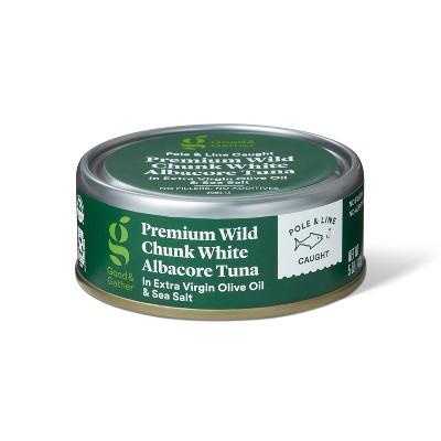 Premium Wild Albacore Chunk White Tuna in Extra Virgin Olive Oil and Sea Salt - 5oz - Good & Gather™