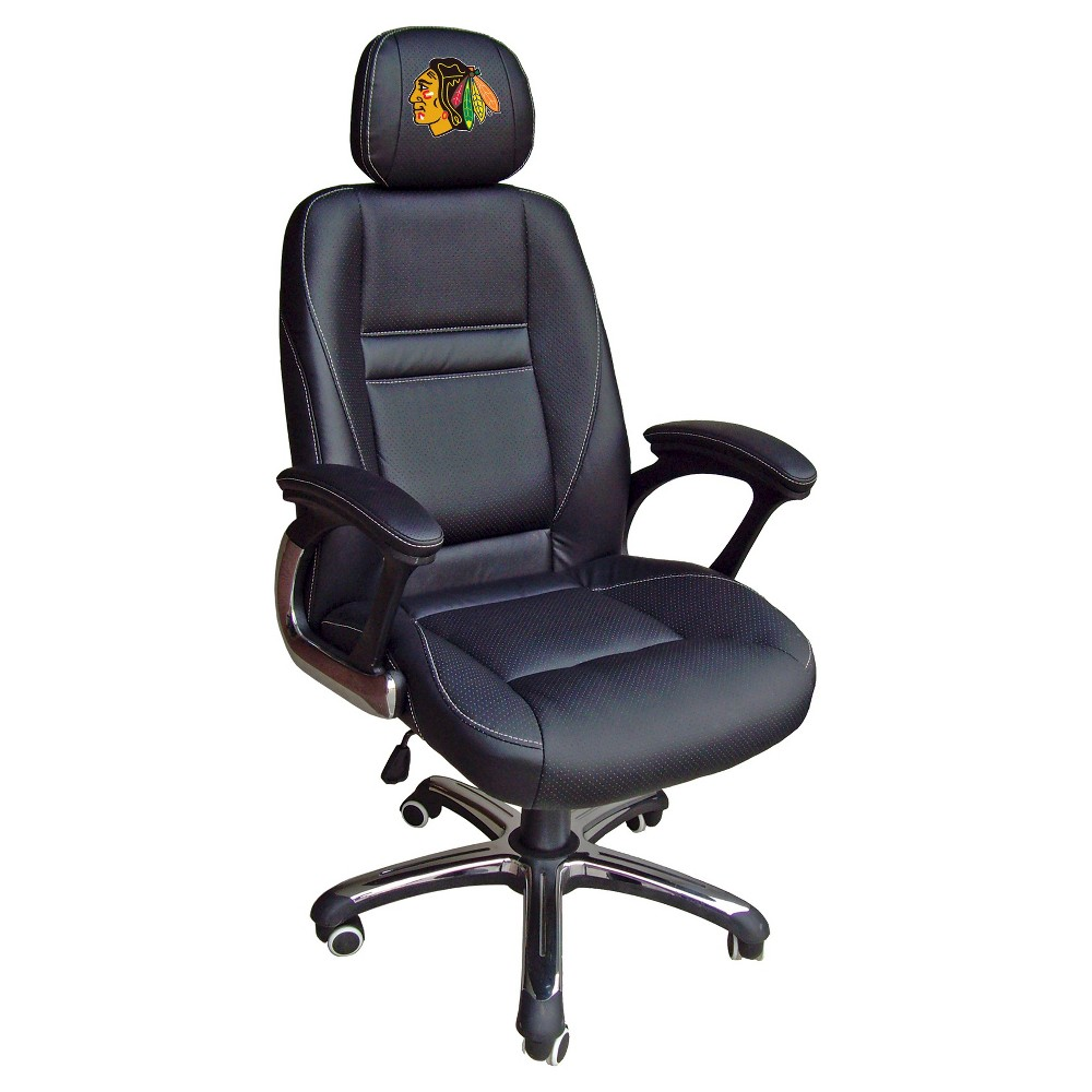 NHL Leather Office Chair Chicago Blackhawks