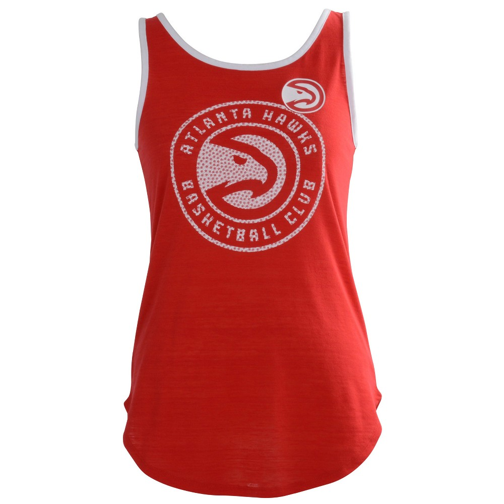 Atlanta Hawks Women's B-Ball Slub Jersey Tank Top - M, Multicolored