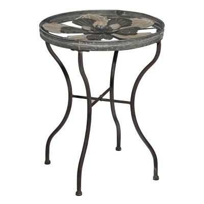 Farmhouse Metal Coffee Table Silver - Olivia & May