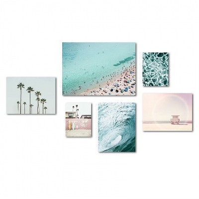 Americanflat - Beach Photography Canvas Gallery Wall Set by Sisi and Seb