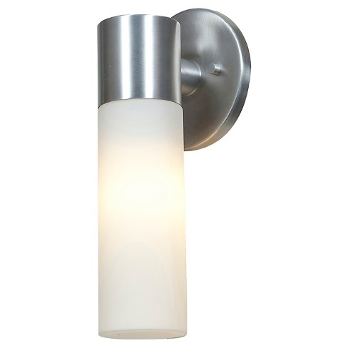 Eos 1-Light Outdoor Wall Light with Opal Glass Shade - Aluminum - image 1 of 1