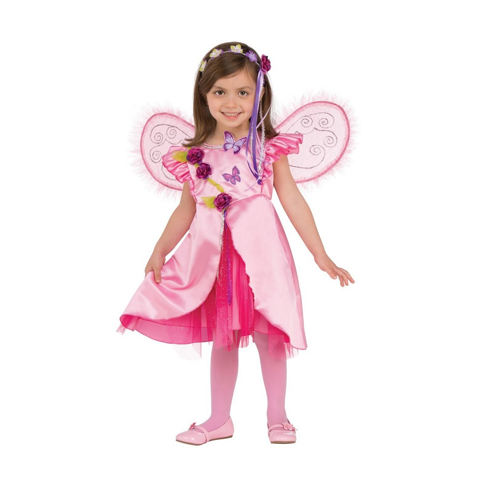 Girls' Rose Fairy Halloween Costume XS - Rubie's, Multicolored