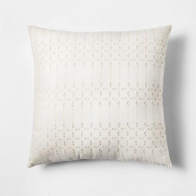 White Eyelet Square Throw Pillow - Threshold™