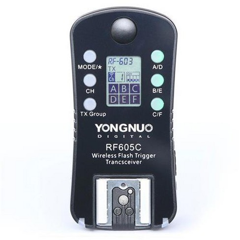 Yongnuo RF605 16-Channel Wireless Flash Trigger for Canon Cameras, 2.4GHz Frequency, 1/320sec Sync Speed - image 1 of 3