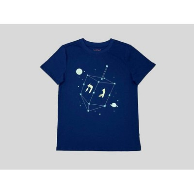 Boys' Hanukkah Dreidel Graphic Short Sleeve T-Shirt - Cat & Jack™ Navy