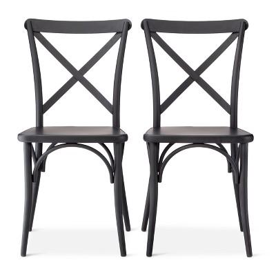 Set of 2 Malden French Bistro Dining Chair Black - Threshold™