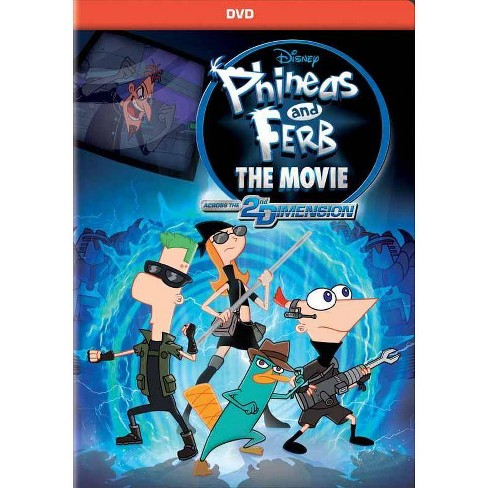 Phineas & Ferb The Movie: Across the Second Dimension (DVD) - image 1 of 1