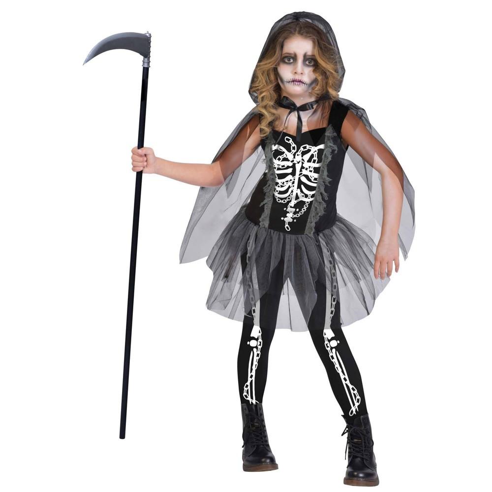Kids 39 Grim Reaper Girl Halloween Costume 12 14