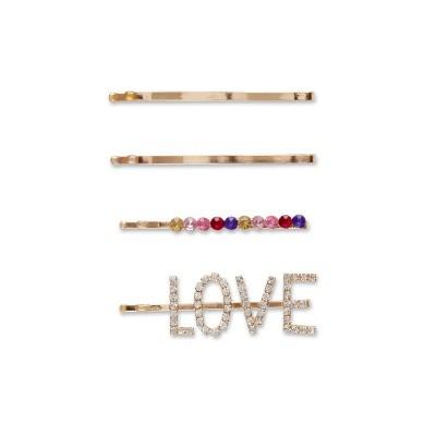 scunci Love Bobby Pins - 4pk