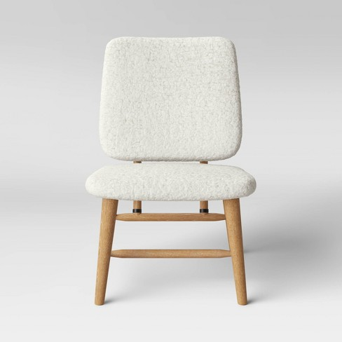 Thurlow Wood Base Slipper Chair Cream - Project 62™ - image 1 of 4