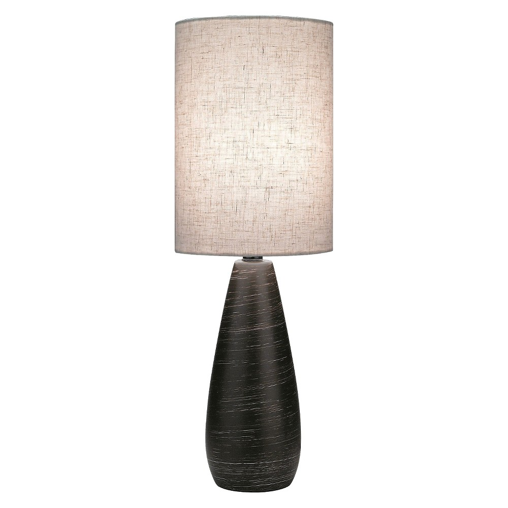 Lite Source Quatro II 1 Light Table Lamp (Lamp Only) - Brushed Dark Bronze, Brown/Medium Off White