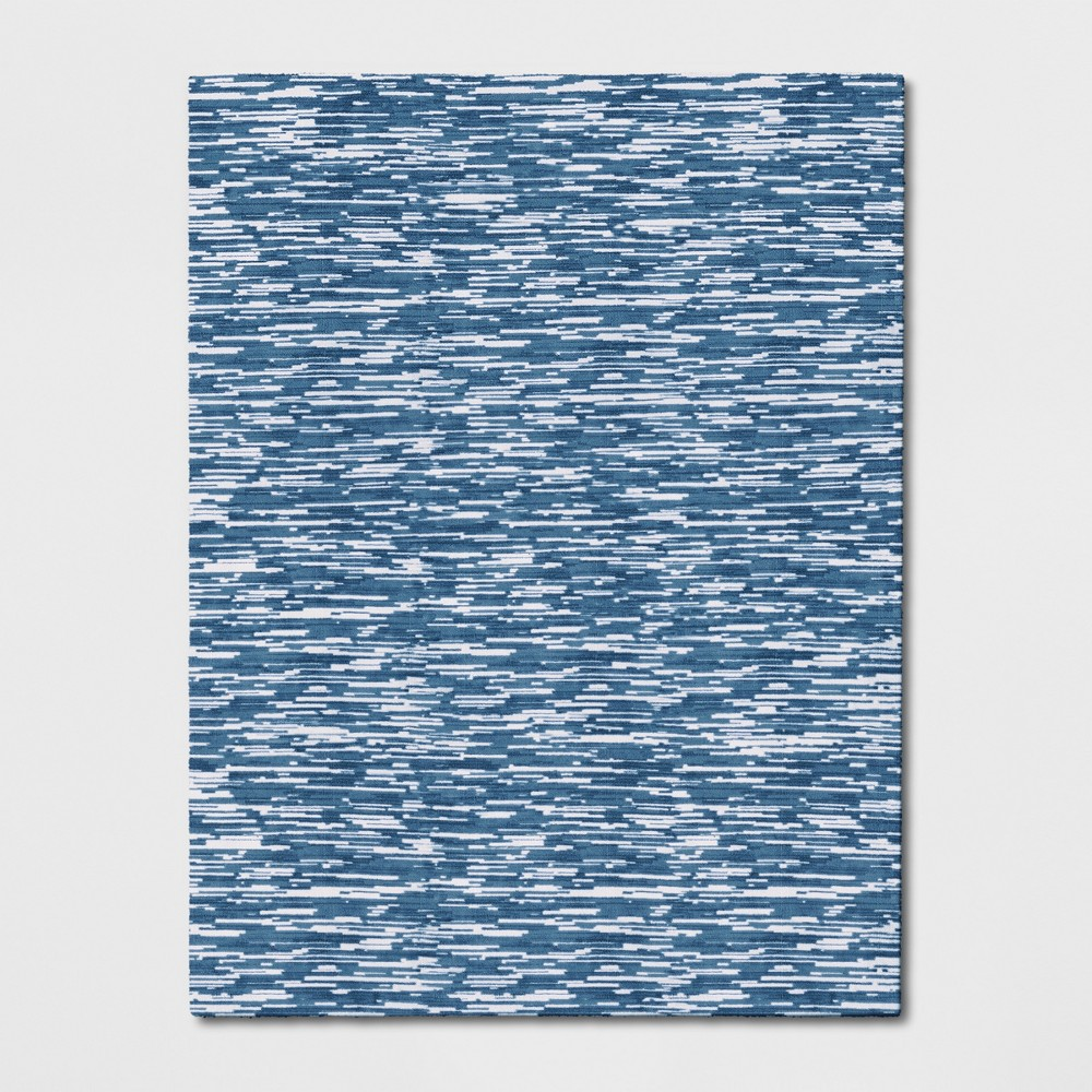 9'X12' Microplush Lines Area Rug Blue - Project 62 was $449.99 now $224.99 (50.0% off)