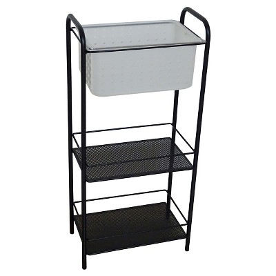 Bath Storage Rack with Removable Tote White - Room Essentials™
