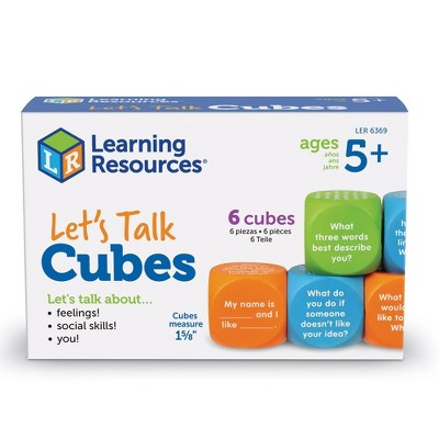 6ct Let's Talk Cubes - Learning Resources