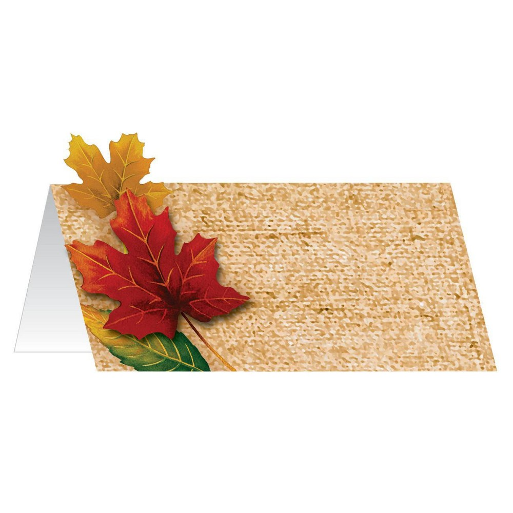 Image of 12ct Fall Leaves Place Cards