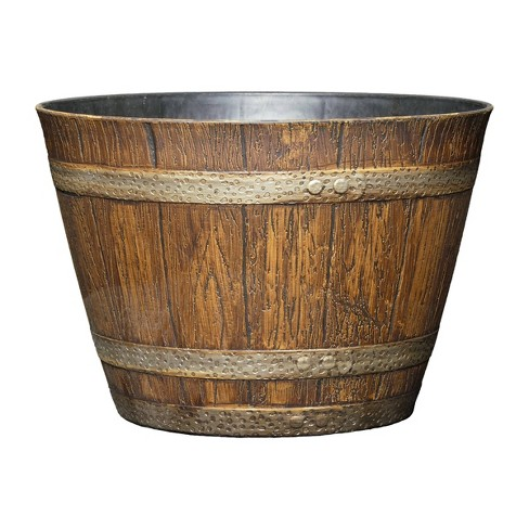 Set of 5 Whiskey Barrel Planter - Classic Home and Garden - image 1 of 4