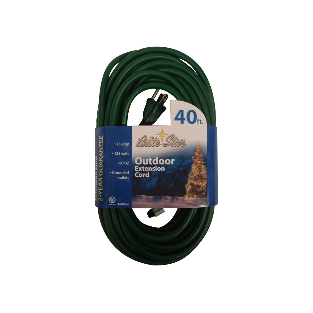Image of Outdoor Extension Cord - Green (40')