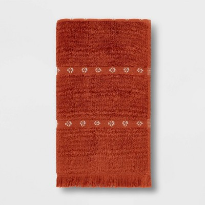 Weft Insert Hand Towel Rust - Threshold™
