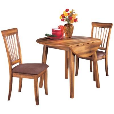 Berringer Drop Leaf Dining Table Rustic Brown - Ashley