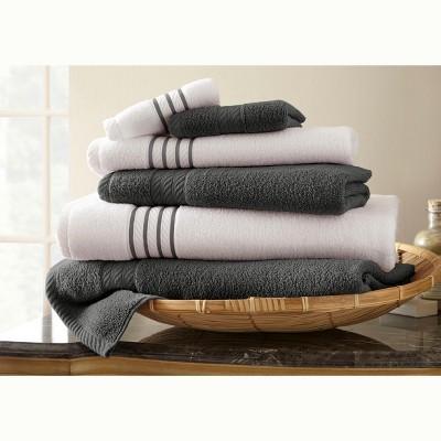 Modern Threads 6 Piece Quick Dry Stripe Towel Set.