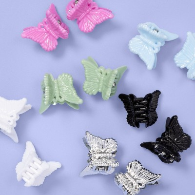 Kids' 12pk Glitter Butterfly Claw Hair Clips - More Than Magic™
