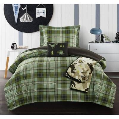 5pc Full Garb Comforter Set Green - Chic Home Design