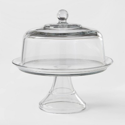 Classic Glass Cake Stand with Dome - Threshold™