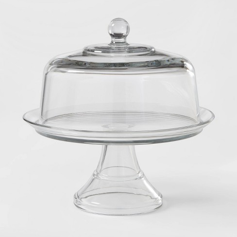 Classic Glass Cake Stand with Dome - Threshold™ - image 1 of 3