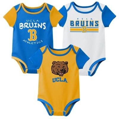NCAA UCLA Bruins Baby Boys' 3pk Bodysuit Set
