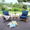 Caterina Teak Patio Rocking Chair with Cushion - Cambridge Casual - image 4 of 4