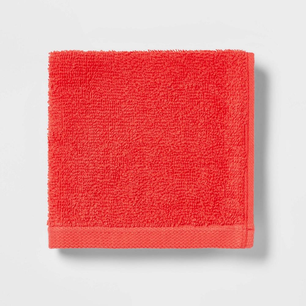 Everyday Solid Washcloth Bright Coral Room Essentials 8482