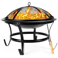 Best Choice Products 22in Steel Outdoor Fire Pit Bowl BBQ Grill
