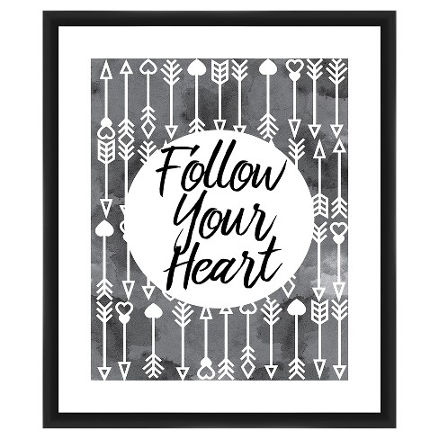 Follow Your Heart 18X22 Wall Art - image 1 of 1