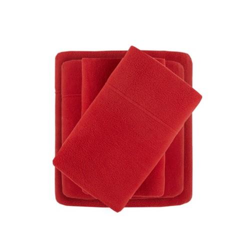 Twin Xl Micro Fleece Sheet Set Red Target