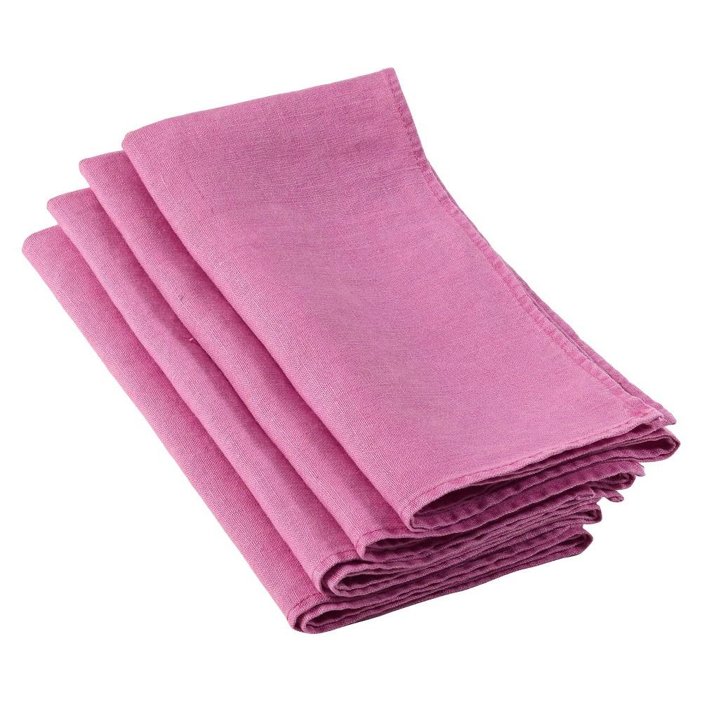 Ruffled Design Napkins Sorbet (Pink) (Set of 4)