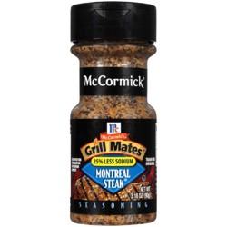 McCormick Grill Mates Less Sodium Montreal Steak - 3.18oz